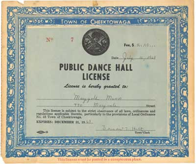 Public Dance Hall License